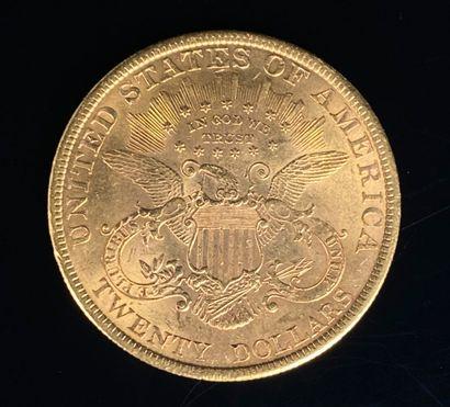 Une pièce de 20 dollars or Liberty, 1900.  33,44 grammes.