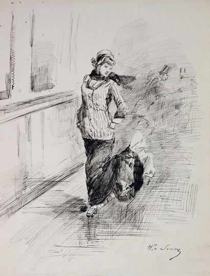 Henry SOMM (1844-1907).  Un vent de liberté....