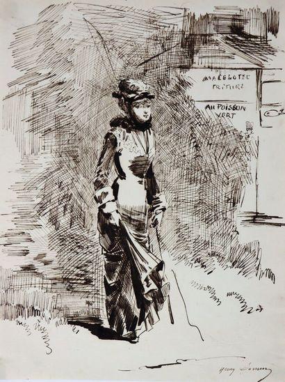 Henry SOMM (1844-1907).  Macelotte Friture,...