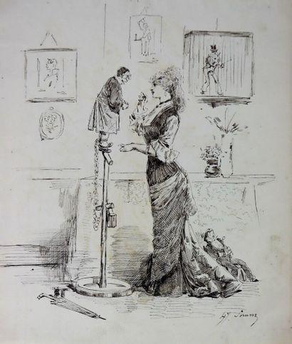 Henry SOMM (1844-1907).  La domestication....