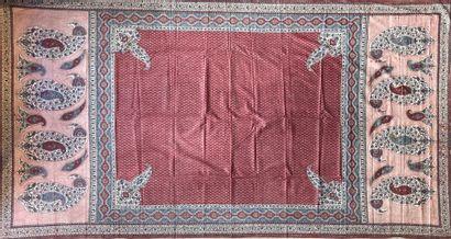 Grand Kalamkar  Coton peint et imprimé en...