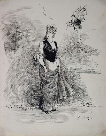 Henry SOMM (1844-1907).  Sous les flèches...
