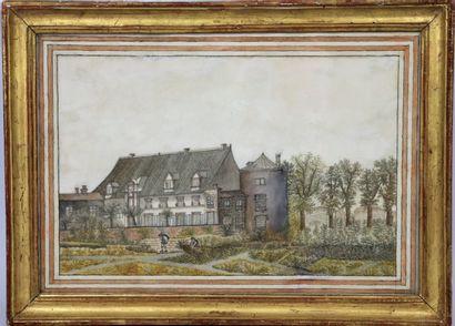 Ecole étrangère de la fin du XVIIIème siècle....
