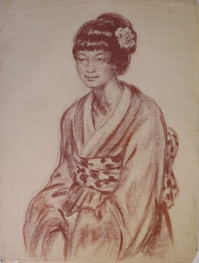 Louis AZNARD (1889 - ?).  Femme japonaise....