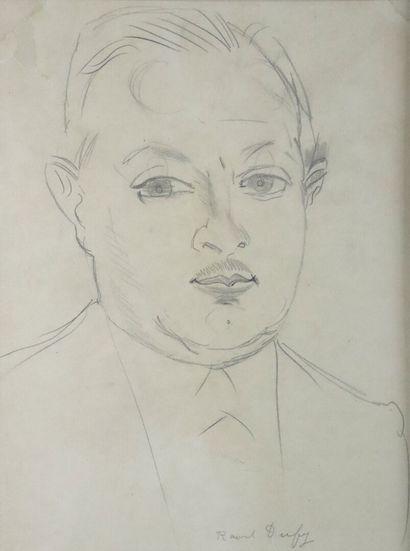 Raoul DUFY (1877-1953).  Portrait de Pierre...