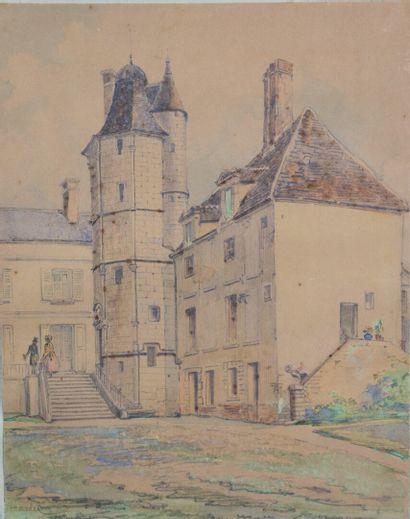 Ecole française vers 1830-1840.  Famille...