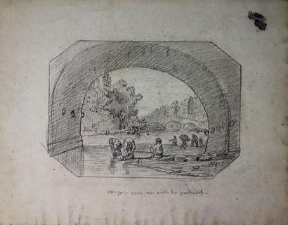 Ecole française du XIXème siècle.  Vue prise...