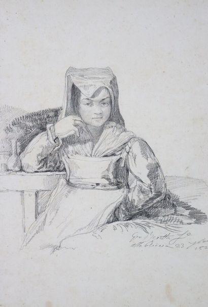 Ecole italienne du XIXème siècle.  Jeune...