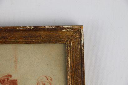 Constantin GUYS (1802-1892), attribué à.  Assemblée de personnages.  Sanguine sur...