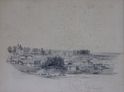 Félix ZIEM (1821-1911).  Paysage de Russie....
