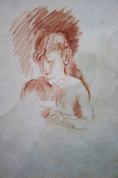 Hermine DAVID (1886-1970).  Portrait d'enfant....