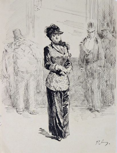 Henry SOMM (1844-1907).  La femme mondaine....