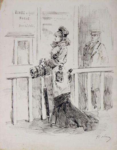 Henry SOMM (1844-1907).  Trains de plaisir....