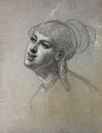 Ecole française du XIXème siècle.  Portrait...