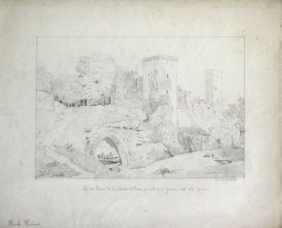 Claude I THIENON (1772-1846).  Vue des ruines...