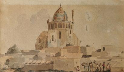 Vue du Dôme de Soltaniyeh  Aquarelle sur...