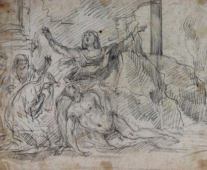 Ecole française du XVIIème siècle.  Déploration...