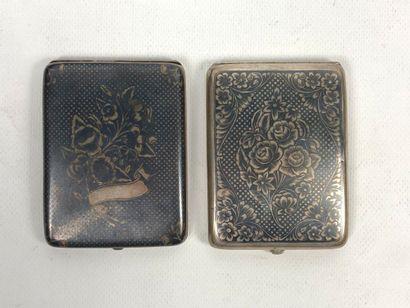Deux étuis à cigarettes Ottomans  Argent...