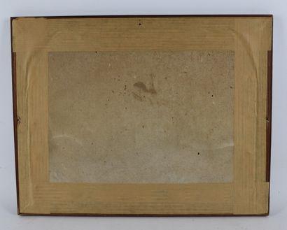 Constantin GUYS (1802-1892), attribué à.  La promenade en attelage.  Lavis d'encre....