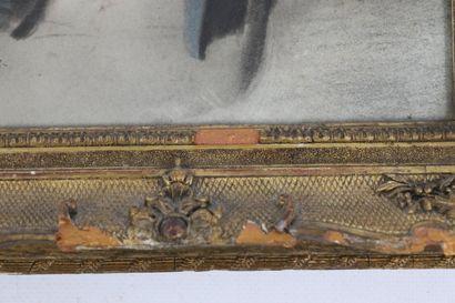 Jean Baptiste ISABEY (1767-1855).  Portrait d'homme.  Pastel sur papier, signé en...