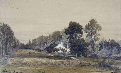 Camille FLERS (1802-1868)  Vue de Montfermeil....