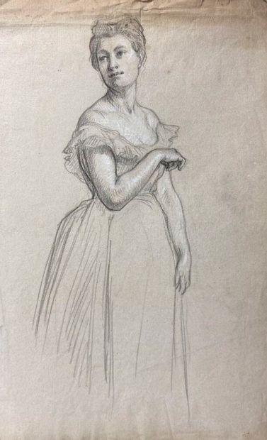 Ecole française du XIXème siècle.  Etude...