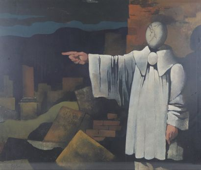 Manolo RUIZ-PIPO (1929-1989).  Pierrot lunaire....
