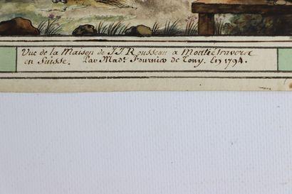 Sophie FOURNIER de TONY (Bellerive-sur-Allier ?-1820).  Vue de la maison de J-J...