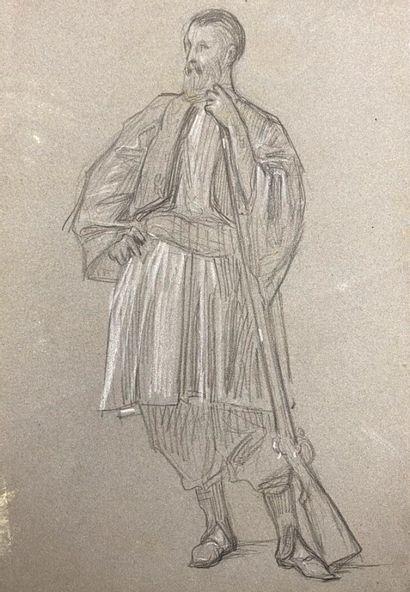 Ecole française du XIXème siècle.  Zouave...