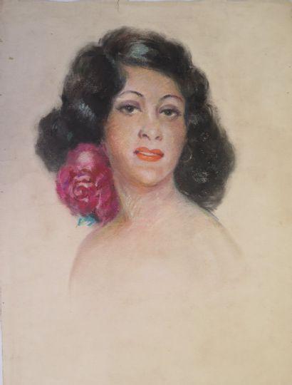 Louis AZNARD (1889 - ?).  Portrait d'une...