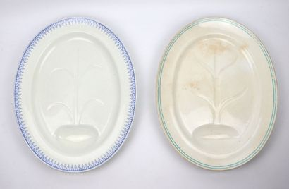 Deux plats à roti en porcelaine  Porcelaine...