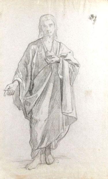 Ecole française du XIXème siècle.  Le Christ...