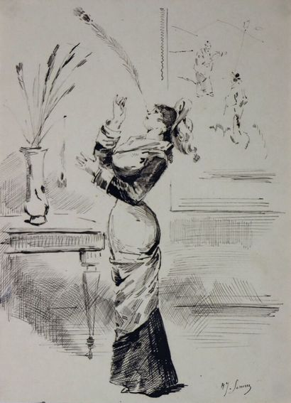 Henry SOMM (1844-1907).  L'équilibriste....