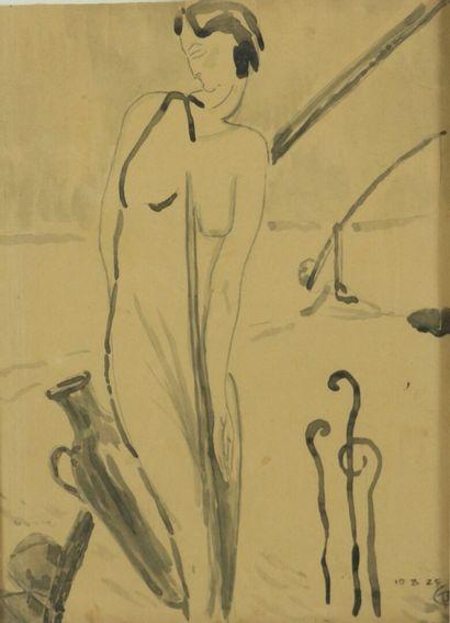 Ecole française, 1925.  Rebecca ou femme...