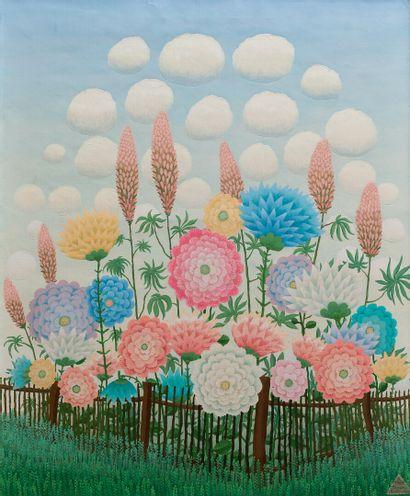 Ivan RABUZIN (1921-2008).  Bouquet de fleurs...