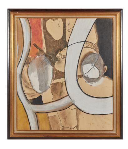 Jean-Michel ALBEROLA (1953).  Homme de dos....