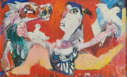 Bernard LORJOU (1908-1986).  La femme aux...