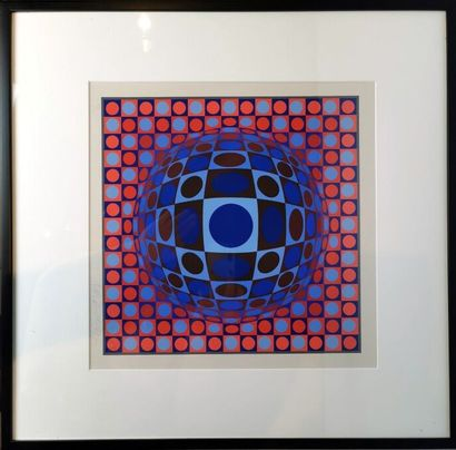 Victor VASARELY (1906-1997).  Composition...