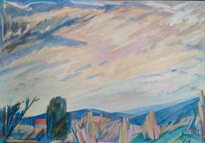 Adrianus REMIËNS (1927).  Paysage au soleil...
