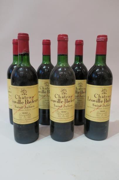 Six bouteilles Léoville Poyferré 1982