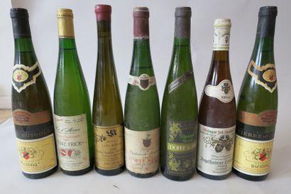 Une bouteille de Riesling Les Murailles Dopff...