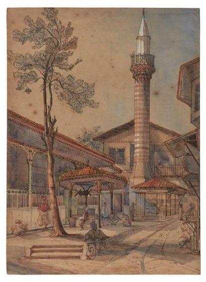 Ecole orientaliste du XIXème siècle.  Le...