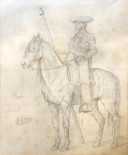 Jean-Léon Gérôme (1824-1904).  Etude de picador...