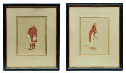 J.B. SPRAGUE  Portraits d'hommes, Birch Bark....