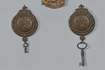 Intéressante paire de claviers en bronze...