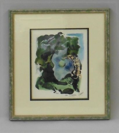 Serge DAMIENS (25 décembre 1954) «Paysage»...