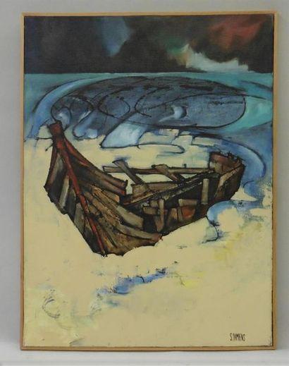 Serge DAMIENS (25 décembre 1954) «La Barque»...
