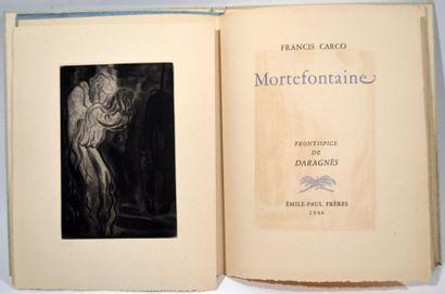 CARCO (Francis) Mortefontaine. Paris, Émile-Paul...
