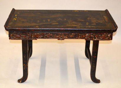 VIETNAM, XIXe siècle Table basse en bois...