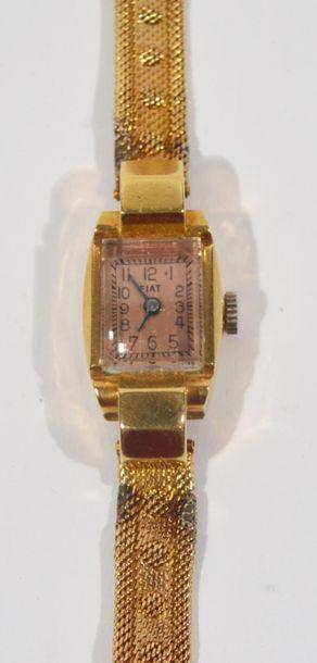 FIAT - Montre bracelet de dame en or jaune...